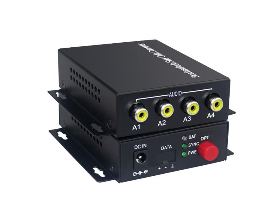 4路单向音频光端机