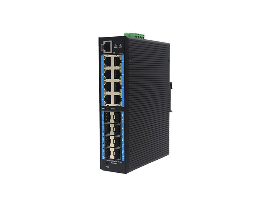 环网管理型千兆8光8电工业级交换机